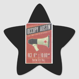 Occupy Austin - Occupy Wall Street Star Sticker
