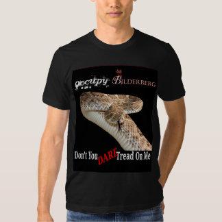 occupy bilderberg 2012, don't you dare tread on me t-shirt