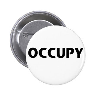 Occupy (Black on White) Button