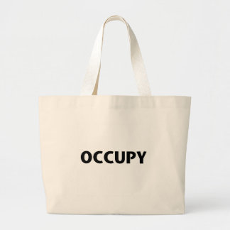 Occupy (Black on White) Large Tote Bag
