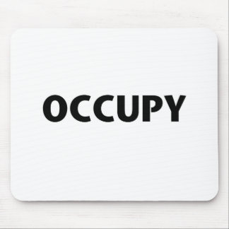 Occupy (Black on White) Mouse Pad