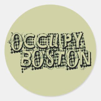 Occupy Boston Classic Round Sticker