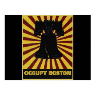 Occupy Boston Flyer October 2011. Occupy Wall St Postcard