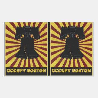 Occupy Boston Flyer October 2011. Occupy Wall St Rectangular Sticker