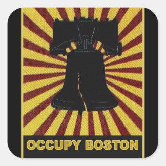 Occupy Boston Flyer October 2011. Occupy Wall St Square Sticker