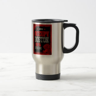 Occupy Boston OWS protest 99 percent strong poster Travel Mug