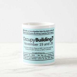 Occupy Building 7 World Trade Center Protest Flyer Coffee Mugs