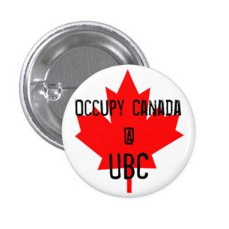 Occupy Canada @ UBC-University of British Columbia Pinback Button