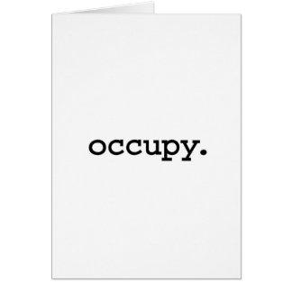 occupy. card