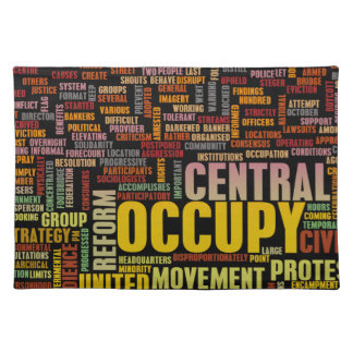 Occupy Central Hong Kong Place Mats