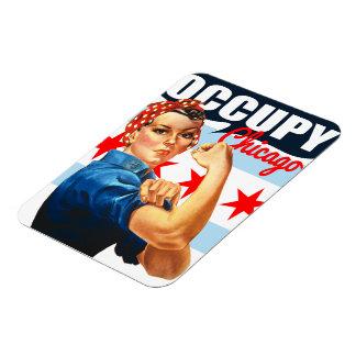 Occupy Chicago Rosie the Riveter Flex Magnet