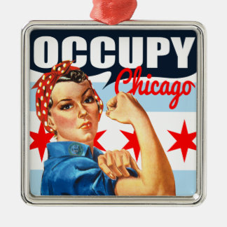 Occupy Chicago Rosie the Riveter Ornaments
