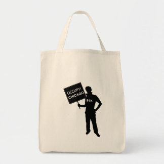 Occupy Chicago Sign Tote Bag