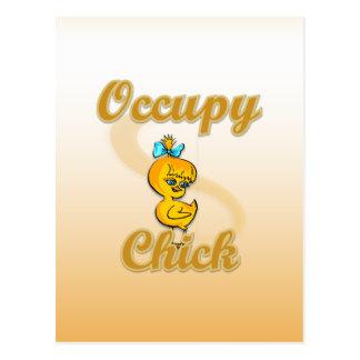 Occupy Chick Postcard