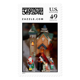 Occupy Christmas Village Postage Stamp