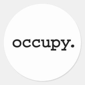 occupy. classic round sticker