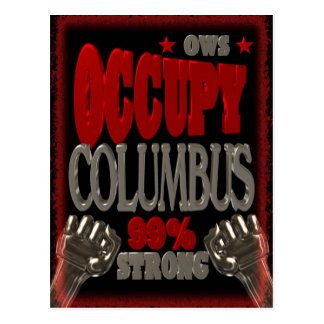 Occupy Columbus OWS protest 99 percent strong Postcard