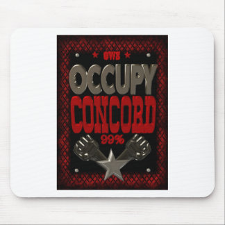Occupy Concord OWS protest 99 strong poster Mouse Pad