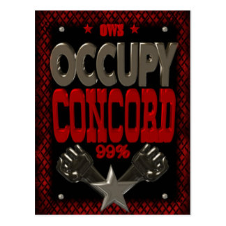 Occupy Concord OWS protest 99 strong poster Postcard