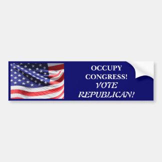 OCCUPY CONGRESS VOTE REPUBLICAN CAR BUMPER STICKER