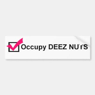 Occupy Deez Nuts bumper sticker Car Bumper Sticker