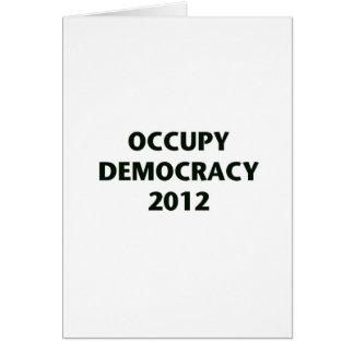 Occupy Democracy 2012 Card