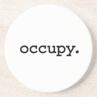 occupy. drink coaster