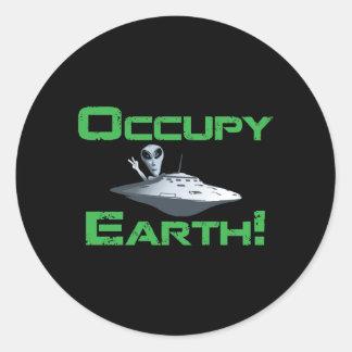 Occupy Earth! Classic Round Sticker