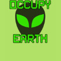 Occupy Earth (dark gray alien) shirt