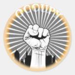 Occupy es un estado de ánimo pegatina redonda