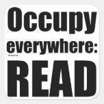Occupy Everywhere Square Sticker