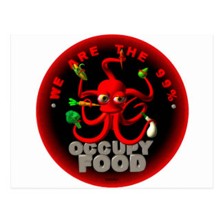 Occupy food- we are the 99 postcard