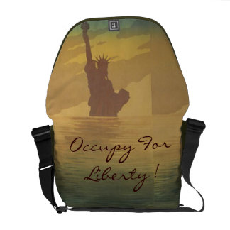 occupy for liberty courier bag