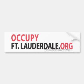 Occupy Fort Lauderdale Bumper Sticker Car Bumper Sticker