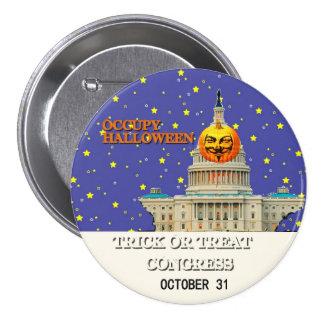 Occupy Halloween Button