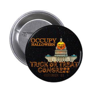 Occupy Halloween Oct. 31 Pinback Button