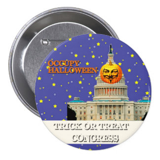 Occupy Halloween Pinback Button