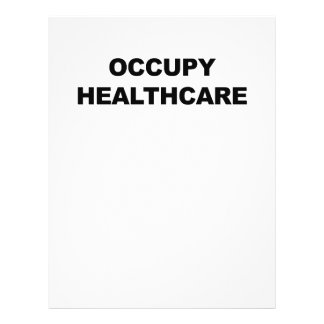 OCCUPY HEALTHCARE LETTERHEAD