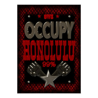 Occupy Honolulu OWS protest 99 strong poster