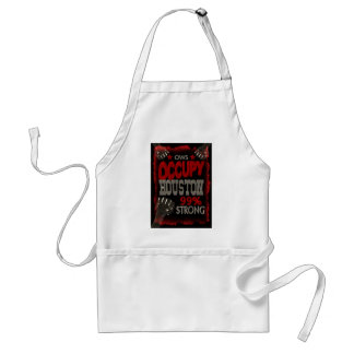 Occupy Houston OWS protest 99 percent strong Adult Apron