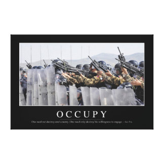 Occupy: Inspirational Quote Canvas Print