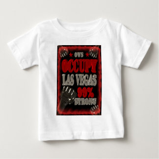 Occupy Las Vegas OWS protest 99 percent strong Baby T-Shirt
