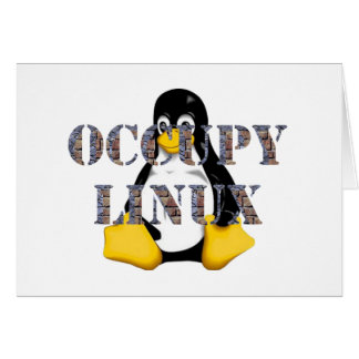 OCCUPY LINUX GREETING CARD