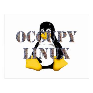 OCCUPY LINUX POSTCARD