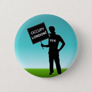 Occupy London Sign Pinback Button