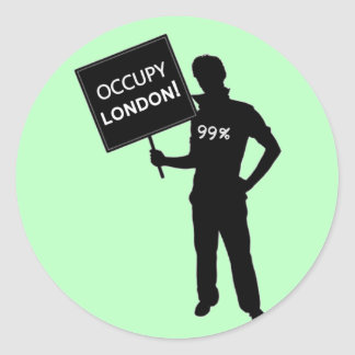 Occupy London Sign Round Stickers