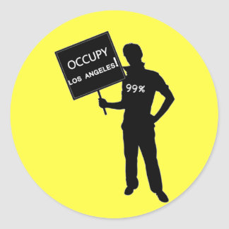 Occupy Los Angeles Sign Stickers