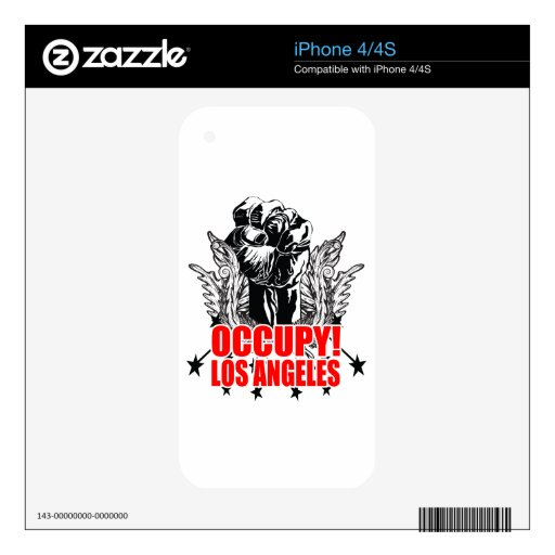 Occupy Los Angeles Skins For iPhone 4