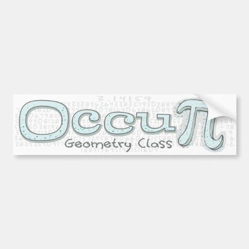 Occupy Math Class Car Bumper Sticker