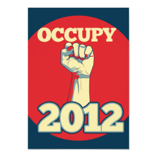 Occupy Movement 2012 Card